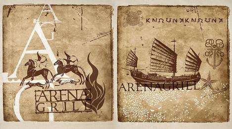Серия иллюстраций для кафе «Арена гриль»